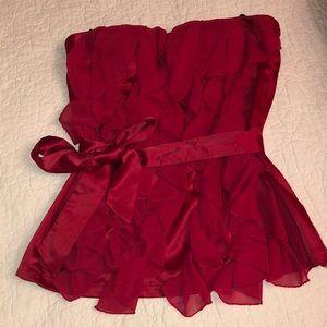 Red XOXO Women's Strapless Ruffle Tube Top Size M